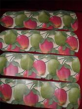 CUSTOM ~CEILING FAN CRISP RED & GREEN APPLES DELICIOUS & GRANNY SMITH KITCHEN