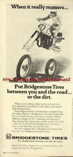 Bridgestone Tires Motorcycle 1979 Magazine Advert #443