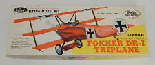 "Guillow's Fokker DR-I ""Red Baron"" Triplane Balsa Wood Kit NIOB"