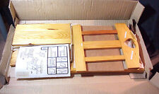 22 3/4+ INCHES STORAGE CHAIR WOOD CONSTRUCTION NEVER ASSEMBLED -HAS INSTRUCTIONS