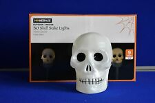 NEW 3 Light Up Skull Stake Lights Lawn Path Finder Halloween Warm Outdoor Indoor