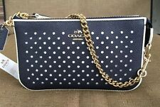 COACH NOLITA PERFORATED LEATHER WRISTLET CLUTCH LADY'S 53225