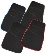 Black/Blue Universal Size 4 piece Car Mat Set suitable for TOYOTA PRIUS