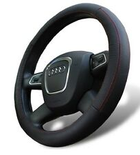 Genuine Leather Steering Wheel Cover for Mitsubishi Universal Fit black