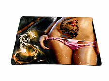 Sexy Lady Pattern Anti-slip Purple Design PC Mouse Mat Mouse Mice Mat Mouse pad