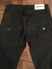 883 POLICE, Mens W32 L34, Dark Coated Wash, Tapered Cargo, Denim Jeans,*EX COND*