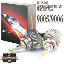 2016 60W 9005 LED Headlight 9006 Headlamp 6000lm Vehicle Beam Bulb Kit 6000k