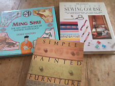 3 BOOKS MING SHU CHINESE ASTROLOGY; SIMPLE PAINTED FURNITUR; COMPLETE SEWING