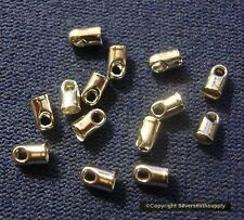 1mm Leather ends white gold plated thong end clasp findings 12 pcs  fps056