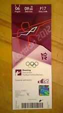 LONDON 2012 TICKET SHOOTING COLLECTORS EDITION 06 AUG 0900 P17 *MINT*