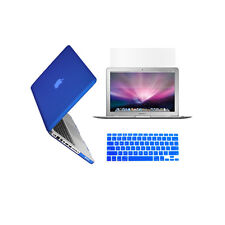 "3 in 1 Rubberized ROYAL BLUE Case for Macbook PRO 13"" + Key Cover + LCD Screen"