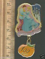 Disney Pin 100 Years of Magic LE 1950 Cinderella Ballroom dancing dangler NICE!