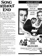 SONG WITHOUT END pressbook, Dick Bogarde, Genevieve Page, CINEMASCOPE