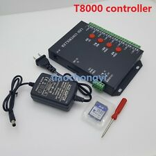 T8000 SD Card 8192 Pixel Controller For TM1804 LPD6803 WS2812B WS2811 LED Strip