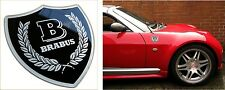 Smart roadster/mercedes brabus badge decal 3D résine bombée noir/argent