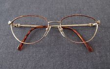 VINTAGE AUTHENTIC GUY LAROCHE PARIS ENAMELED GOLDEN EYEGLASSES FRAME FRANCE MADE