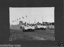 JUAN FANGIO KARL KLING MERCEDES W196 F1 FRENCH GP REIMS 1954 PERIOD PHOTOGRAPH