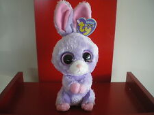 Ty Beanie Boo PETUNIA  rabbit 6 inch NWMT. RETIRED AND HARD TO FIND.