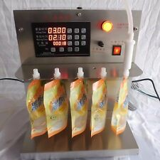 High stainless steel temperature stand-up pouches soy milk filling machine 220V