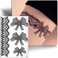 ►TATOUAGE TEMPORAIRE jarretiere dentelle (tattoo femme éphémère, autocollant)◄