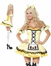 Ladies Sexy Goldilocks Costume Fairy Tale Story Book Fantasy Fancy Dress MEDIUM