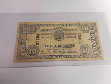 Philippines Emergency WW II Currency National Bank 1941 Ten Centavos - # 23404
