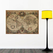 Large World Map Wall Posters Removable Art Mural Vinyl Quote Home Office Decor