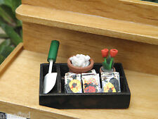 Miniature Dollhouse FAIRY GARDEN ~ Mini Gardening Set in Box Seeds Trowel ~ NEW