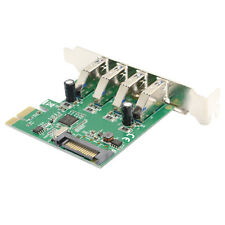 Super speed Low Profile Half Height 4 Ports USB 3.0 PCI-E Express Card VIA chip
