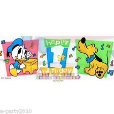 DISNEY BABIES 1st Birthday Tunes PLASTIC BANNER ~ Party Supplies Decorations