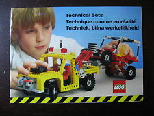 LEGO  TECHNIC CATALOGUE  BROCHURE GAMME  1982  12 PAGES FORMAT 21 X 15 cm