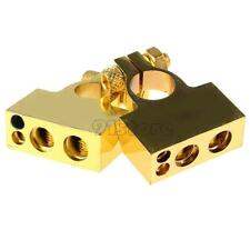 2 pcs Copper Battery Terminals Gold Terminal Connectors Positive Negative SR1G