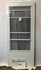 """Replacement Storm Door ANDERSEN White 34""""x80"""" Glass Panel w/Screen 41269 d15 NEW"""