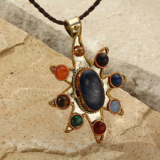 New Tara Mesa 3.46 CT Multi-Stone Sunburst Pendant MSRP~$475.00