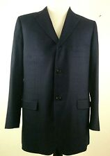 ISAIA Napoli Men's Wool Cashmere Blazer Suit Jacket Navy Pinstripes US 48L EU 58