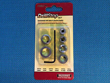 DRILL BIT DEPTH STOP SET FOR DRILLING CONSISTENT HOLE DEPTHS 6 PIECES MILESCRAFT