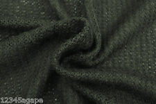 B73 WOOL-VISCOSE-ACRYLIC BLEND BLACK CHAIN KNIT LIGHT PLUS WEIGHT MADE IN ITALY