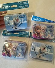 Frozen Elsa Anna Olaf Disney collectible tins lot with cotton swabs