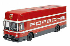 MERCEDES O 317 PORSCHE RACE CAR TRANSPORTER  1/18 DIECAST MODEL SCHUCO 450032300