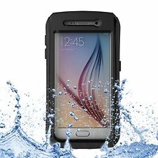 Custodia cover waterproof impermeabile anti polvere acqua NERO per Galaxy S6
