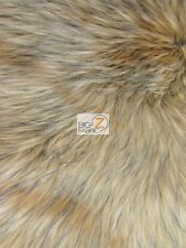 FAUX FAKE FUR ANIMAL SHORT PILE COAT COSTUME FABRIC - Baby Wolf - BY YARD SCARFS