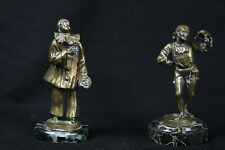 Paire de bronzes: Pierrot et Arlequin / Pair of bronze: Pierrot and Arlequin