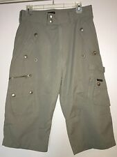 Energie Men's Thick Carpenter Long Shorts Cropped Pants Gray Grey Size 30 Sixty
