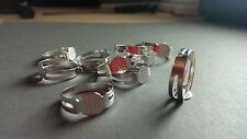 100 Silver Plated Adjustable Ring Settings Bases Blanks Pad lead/nickel safe