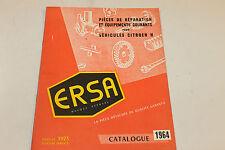 catalogue de pièces détachées ERSA CITROEN  H 1964