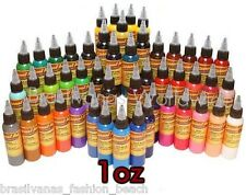 USA Authentic! Eternal Tattoo Ink 50 Color Set of 1oz (Tinta 30ml)Ship Worldwide