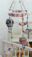 KNITTING PATTERN Baby Striped Cot Mobile Hot Air Balloon Birds Sirdar PATTERN