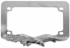 Chrome Eagle License Plate Tag Trim Frame Harley Motorcycle/Chopper/Bike/Scooter
