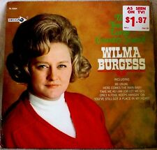 Wilma Burgess Tender Lovin' Country Sound 1968 Decca Records DL 75024 Sealed LP