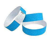 100 Tyvek-braccialetti-fascette polso blu événementiels-neon/neon blue/beu fluo